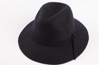 Fashion Unisex Headwear  Women Winter Wool Black Fedora Hat Trilby Crown Cap Wide Brim Bowler Derby Floppy high quanlity Hat