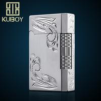 Hongkong kubao kuboy inflatable lighter with gas lighter drawing carving