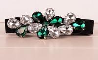 Korean fashion rhinestone flower lady dress sparkling crystal rhinestone girdle skirt waist belt full 6-color into the