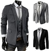 New 2014 Fall Winter Men Blazer Stylish Zipper leisure Slim Men leisure Blazer Free Shipping Promotions