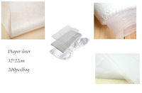 2014 free shipping wholesale retail 200 sheets/bag flushable disposable cloth diapers liner stocklot biodegradable diaper liner