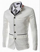 New 2014 Fall Winter Men Blazer Stylish Stand collar stripes leisure Slim Men Blazer Free shipping promotions
