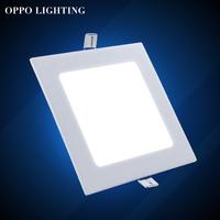 9wHot Room Stroe  Square led panel light ceiling Super Bright Warm White Light AC85-265V Free Shipping