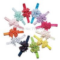 2014 winter bow dot baby girl headband kids hair accessories hair band 12pcs/lot free shipping