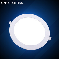 Led Panel Light 12W 1800LM Round Shape With Power Adapter AC85-265V Ulthra thin 225*20mm,Free Shipping!