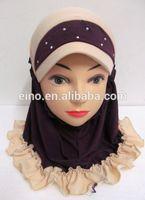 Wholesale free shipping latest design 2014 popular muslim girl hijab TT142