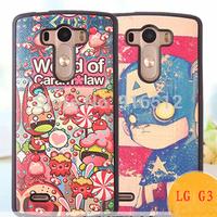 Fashion Print Covers PU Soft Grain Case for LG G3 Optimus
