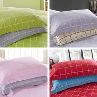 Lattice Plain colour Designs 100% pure Cotton two Pillowcase Pillowslip Envelope Pillow Covers Drop Shipping home textile#P15-1
