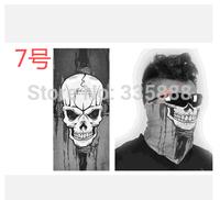 Outdoor Sports Towel Skull Cycling Headscarf/Headband/Bandana Buffs/Scarf Half Face Mask/ Magic Scarves 5Pcs/Lot Free Shipping