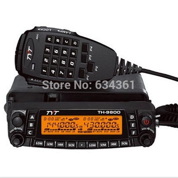 hot sales black TYT TH-9800 Walkie-talkie 29/50/144/430 MHZ QUAD BAND TRANSCEIVER Mobile Car Radio(China (Mainland))