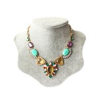 Free Shipping Bohemia female vintage gem necklace statement necklace women necklace