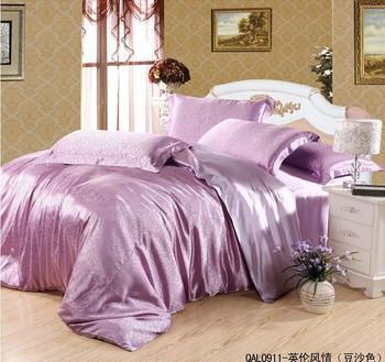 Luxury purple pink mulberry silk bedding comforter set - Purple and pink comforter sets ...