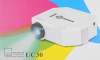 UC30 150 Lumens HD Home Theater MINI Projector For Video Games TV Movie Support HDMI VGA AV Portable 5 pcs