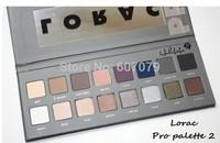 Free Shipping by DHL Wholesale 12pcs/lot 2014 NEW Lorac pro palette 2 eyeshadow 16 colors +eye primer