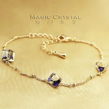 Бесплатная доставка Italina Rigant мода австрийский быть синий браслет ювелирные ...