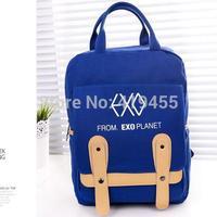 EXO backpacks canvas Women fashion student school bag rucksack mochila bagpack knapsack for female 2014 New Hight quality BP0340