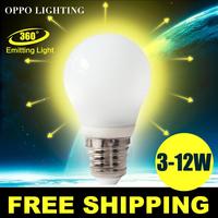 E27 360 Led Light Bulb 3W 5W 7W 9W 10W 12W 15W LED Bulb Lamp 220v 110v Cold Warm White Led Spotlight Free Shipping