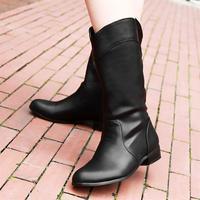 2014 low-heeled winter boots women Martin boots plus velvet  size 34 ~ 43
