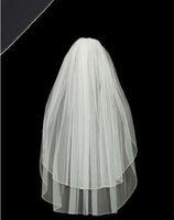 New wedding dress veil 2T White / Ivory Rope edge Elbow Bridal Veil + Comb