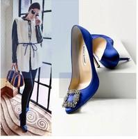 luxury rhinestone women wedding shoes famous brand women high heels pointed-toe women pumps dress  brand shoes women 2014