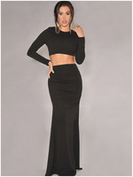 New arrival, High quality! Fashion o-neck sexy hollow out two-piece Dress, Clubbing Dresses, one size, DL6624