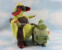 "2 Sizes/Set Pokemon Plush Toys 12"" Fraxure + 6"" Axew  Soft Stuffed Animal Figure Doll"