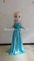 blue dress Elsa mascot costumes for party