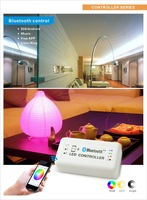 Bluetooth RGB LED controller for led strip Light RGBW Bulb controller support Bluetooth V4.0 By Iphone 4S or above Android 4.3