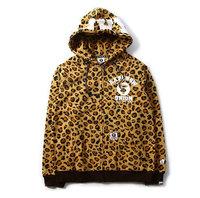 AAPE Leopard camo union thick Hoodies Sweatshirt Lovers cardigan sweater yy212