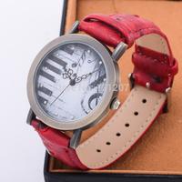 Vintage Watch Dress Watches High Quality Women Clock Piano Key Watch Face PU Leather Strap Ladies' Wristwatch