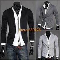 2014 new Pure color Men Suit Jacket 2014 Autumn New Arrival UK Style Classic Slim Fashion Brand Casual Suit Blazer X01