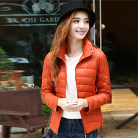 High quality lightweight autumn winter women winter coat slim duck down jacket for women  10 colors