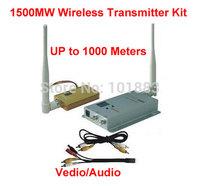 1.2G Wireless Video/Audio AV Transmitter & Transmitter 1500mW 8CH 1.5W Long distance upto 1000m