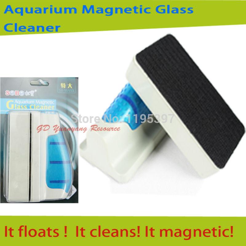 New Aquarium Magnetic Glass Cleaner Fish Tank Plant Algae Floating Scraper cleaning Brush Medium 9.2*4.2*6.5CM Free shipping(China (Mainland))