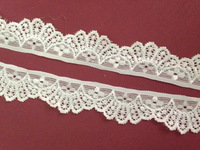 "20meters/lot 3CM 1.18"" width new top quality ivory Elastic Stretch cotton Lace trim crown DIY wedding bridal,sewing accessory"