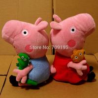 DHL Free shipping Peppa Pig Toys With Teddy Bear George Pig Plush Doll Toys Stuffed Plush Cartoon Plush Peppa George pepa pig