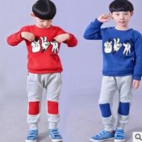 204 hot new fall fun printing patch pants suit children clothing wholesale stone scissors cloth piece suit