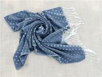 JLB 175cm*70cm New Women's Fashion Dot Printed Design Cotton scarf/ shawl