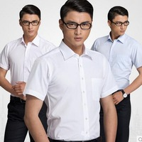 fashion summer 2014 new arrival white short sleeve shirt mens formal dress shirts and men's business casual shirt