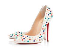 luxury rivets women casual red shoes brand high heels women lace pumps ladies party dress shoes autumn shoes women 2014