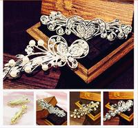 Women Elegant Butterfly Crystal Rhinestone Hair Comb Wedding Bridal Jewelry