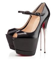 luxury sliver heels women pumps platform red shoes brand high heels platform ladies party dress shoes autumn shoes women 2014