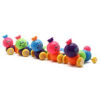 10pcs free shipping new baby kids cute twist forward movement clockwork spring toy caterpillar