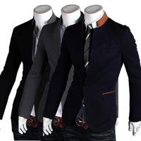 New 2014 Autumn Winter Men leisure suit Blazer fashion Slim leisure Pure Color Men Suit Blazer Free Shipping Promotions