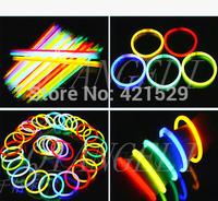 Fluorescent Bracelets Flashing Lighting Wand Novelty Toy Glow Sticks For Christmas Celebration Festivities100pcs/lot Wholesales