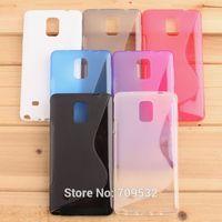 Free Ship 10pcs/lot Tpu gel case s line design for Samsung Galaxy Note 4 N910 N910F N910X Tpu Case