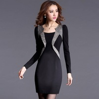 women dress 2014 autumn brand Women's clothing bodycon party  dress lace cultivate long sleeve package buttocks vestido de festa