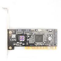 NEW SATA PCI CONTROLLER RAID CARD PCI to 4 Ports Sata WHOLE SALE FREE SHIPPING
