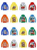 Cartoon long-sleeved sweater autumn Kids Hooded Sweater t-shirt  American hero  Hulk  Iron Man  car  TransFormers