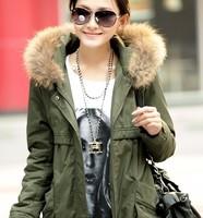 2014 New hot Europe coat women's winter coat big yards long frock coat cotton jacket free shipping